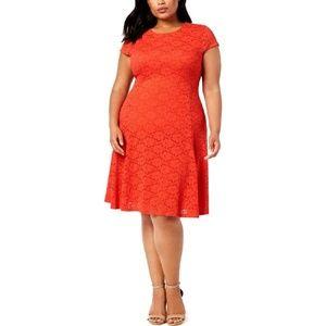 Alfani Plus Size Lace Short Sleeve Party Dress